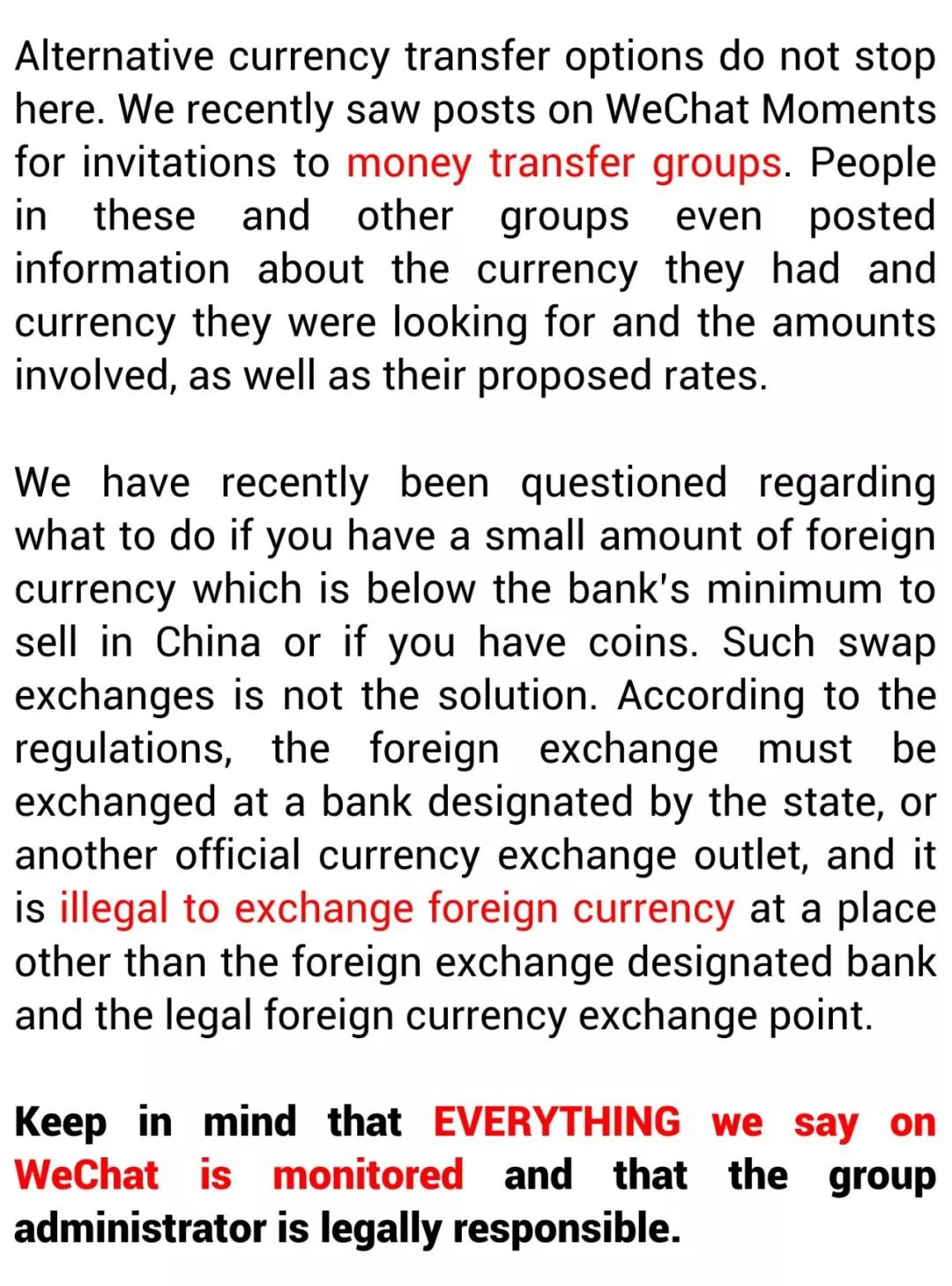Methods To Exchange RMB To A Foreign Currency