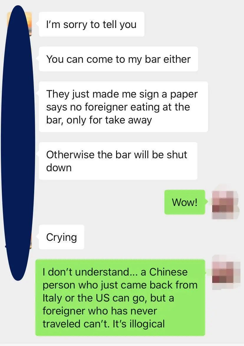 'You Can't Come To My Bar Either'