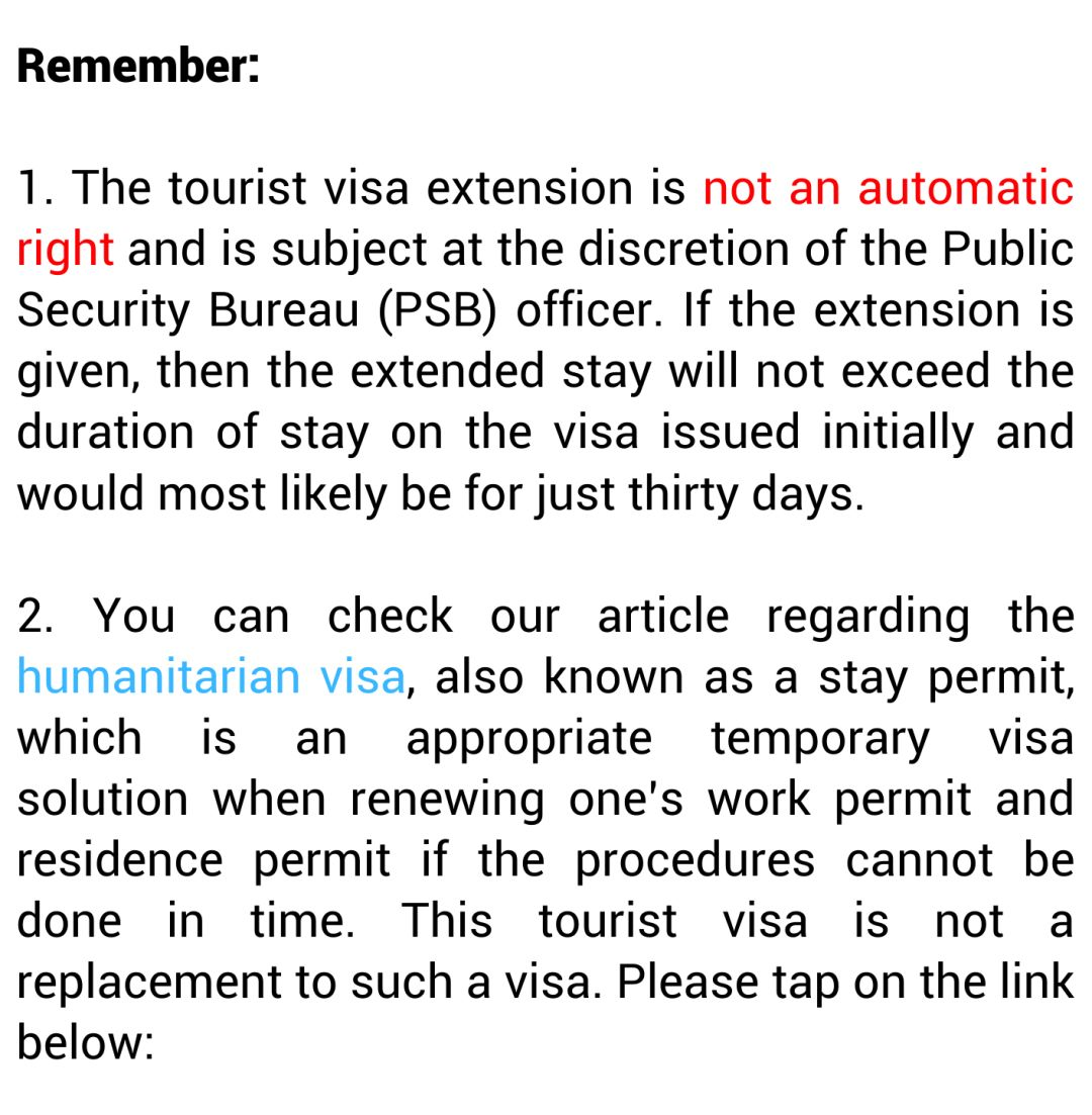 How to Apply For A Tourist Visa Extension in China